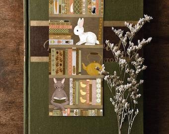 bookshelf rabbit bookmark