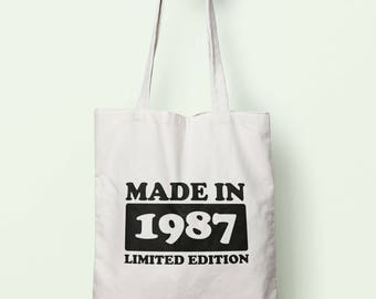 Made In 1987 Limited Edition Tote Bag Long Handles TB1750