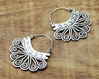 Tribal Earrings, Gypsy Earrings, Ethnic Earrings, Silver Earrings, Indian Earrings, Boho Earrings, Tribal Jewelry, Belly Dance Earrings