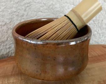 Brown Shino Teabowl / Matcha Tea Bowl / Eating Serving Bowl