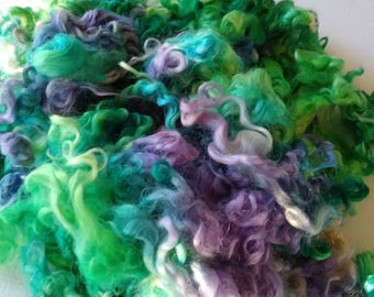 Teeswater Locks - Curls - Hand Dyed Locks - Spinning - Doll Hair - Lockspinning - Felting - Hydrangea - Wool Locks - Troll Hair - Locks