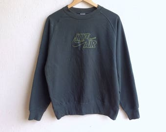 Vintage 90's NIKE AIR spellout logo sweatshirt green colour large size
