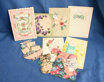 Lot of Eight Vintage Mother's Day Greeting Cards