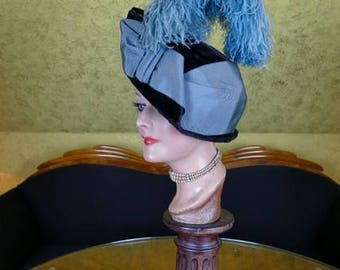 1913 - 1914 Antique Hat, Edwardian Hat, H.P. WASSON Hat, antiker Hut