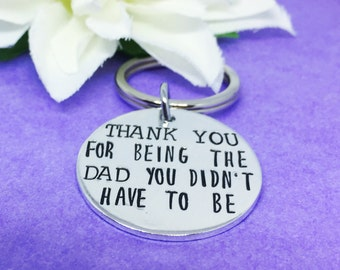 Step Dad Keyring - Gift for Step Daddy - Personalised Keyring - Husband Christmas Gift - Fathers Day Gift - Gift for Dad - Birthday Gift