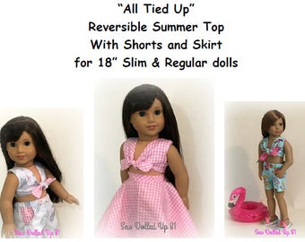 All Tied Up Summer Wardrobe Pattern for 18 inch dolls