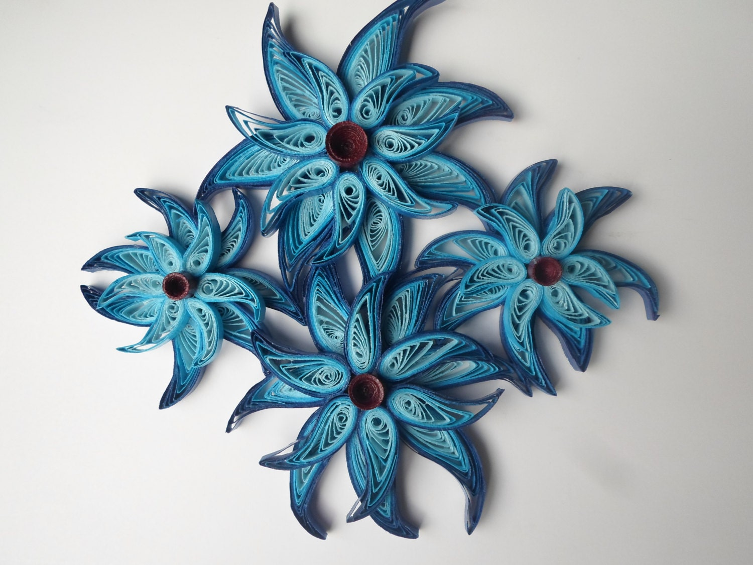 Fantasy blue flowers wall art whimsical star flowers wall zoom mightylinksfo