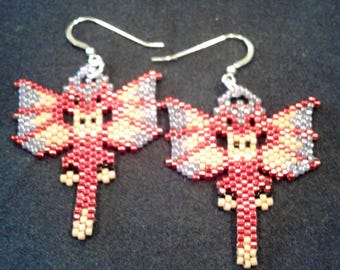 Dragon Earrings - Handcrafted w/Delica Beads