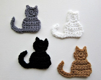 1pc Crochet CAT Applique