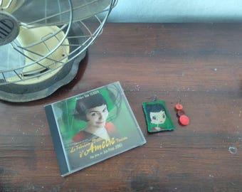 Amelie portrait hand painted earrings...