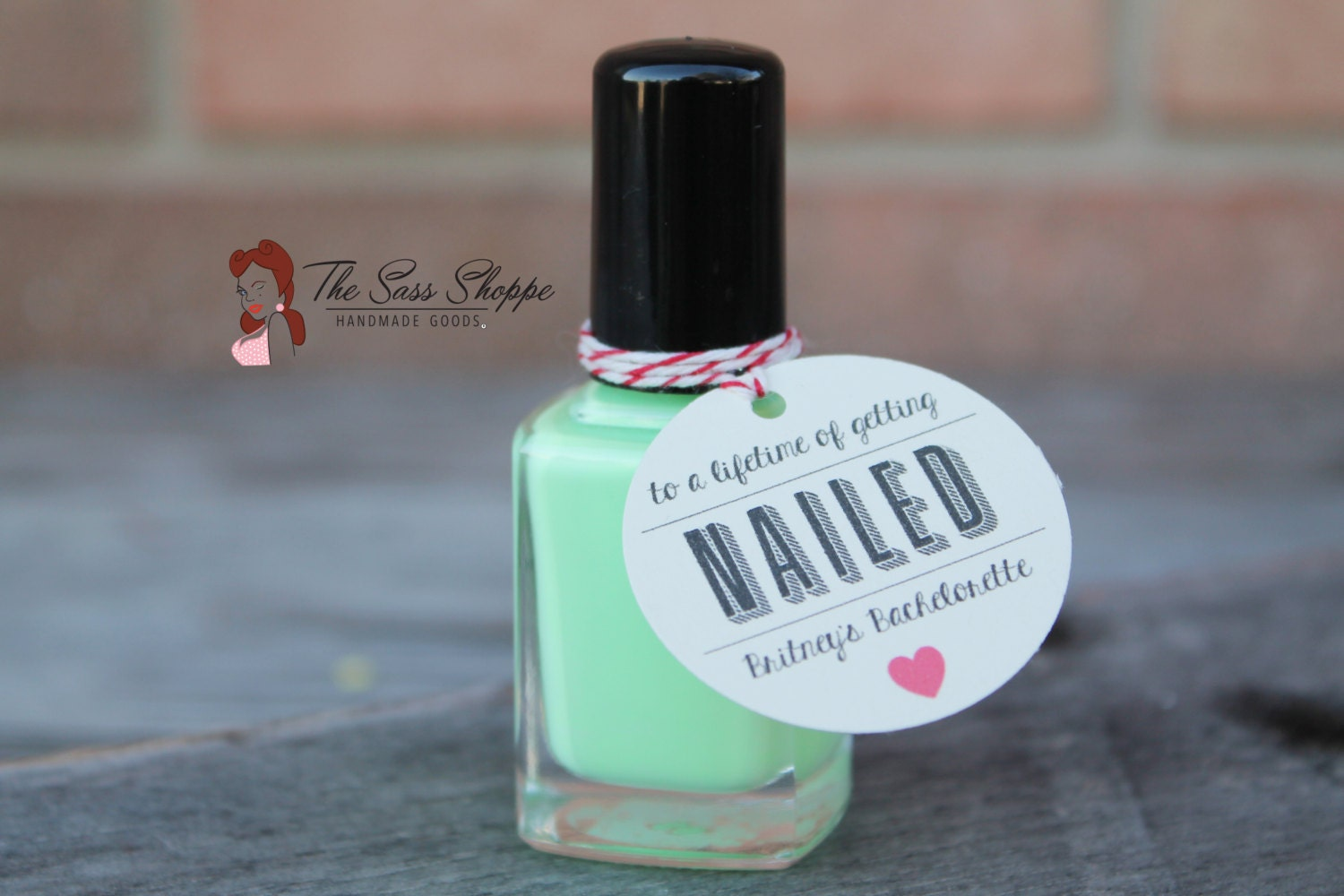 To a Lifetime of Getting Nailed Nail Polish Favor Tag for