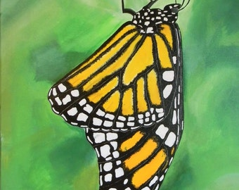 Monarch Butterfly Painting - Original Acrylic Painting