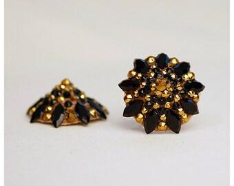 Black and gold/bronze pasties