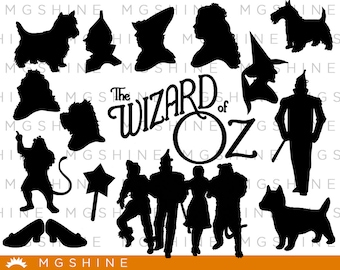 Wizard of Oz SVG for Cricut, Silhouette - Wizard of Oz silhouette - Wizard of Oz png clipart - Wizard of Oz dxf vector files - TS38