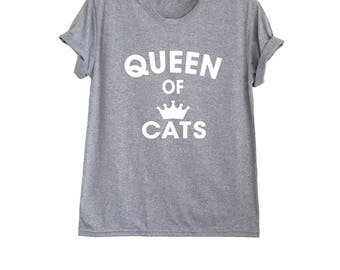 Cat lover gift t shirt funny cat shirts for women cat graphic tees cat print shirt size XS S M L