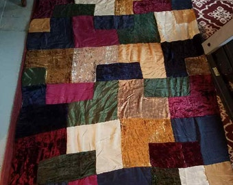 Vintage Handmade Quilt Top/Curtain/Tablecloth