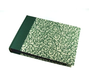green Photo Album, Renaissance Ornament, Classic Family Album, Heirloom Wedding Album