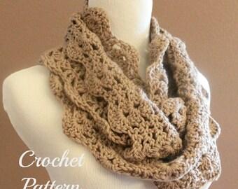 SPRING SALE CROCHET Pattern - Chunky Crochet Infinity Scarf Pattern, Infinity Cowl Pattern, Circle Scarf Pattern