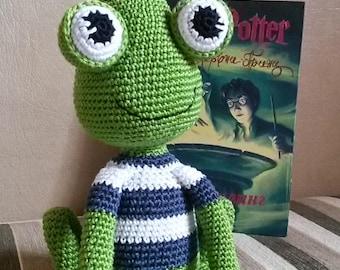 Amigurumi crochet frog  Jimmy - PATTERN ONLY