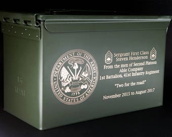Military Ammo Can 50 Cal Personalized