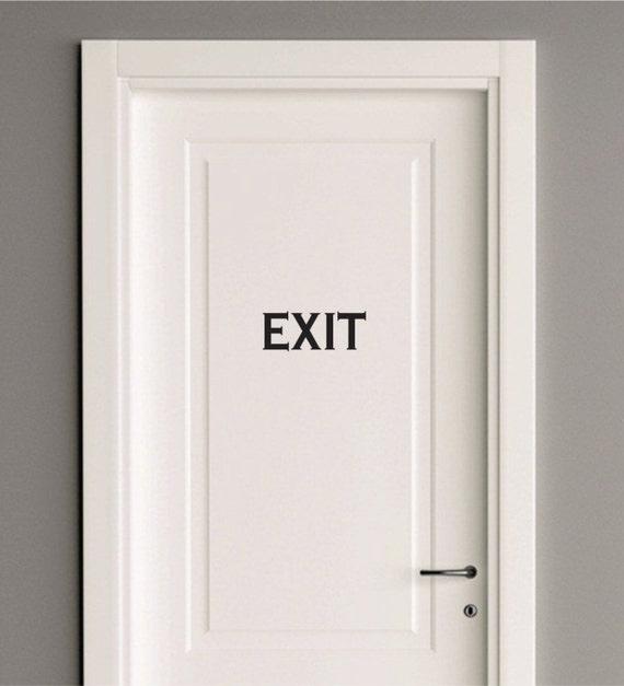 Items similar to EXIT door lettering - vinyl letters - sign - vinyl decal for door - Exit word wall decal - vinyl wall decal for home or office door - exit ... & Items similar to EXIT door lettering - vinyl letters - sign - vinyl ...