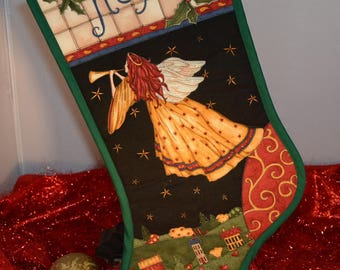 Handmade Quilted Christmas Stocking Hope