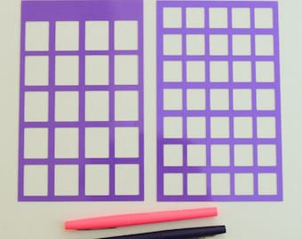 6 Bullet Journal Stencils. Create your monthly & weekly calendar spreads, alphabet lettering, uppercase and lowercase