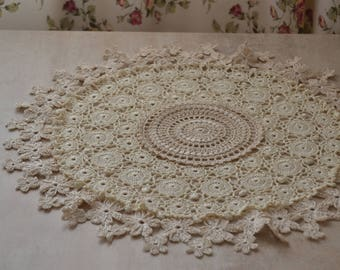 Large lace doily Table decoration Large crochet doily Crochet decoration Round lace doily Crochet doilies Cotton crochet doily Tablecloth