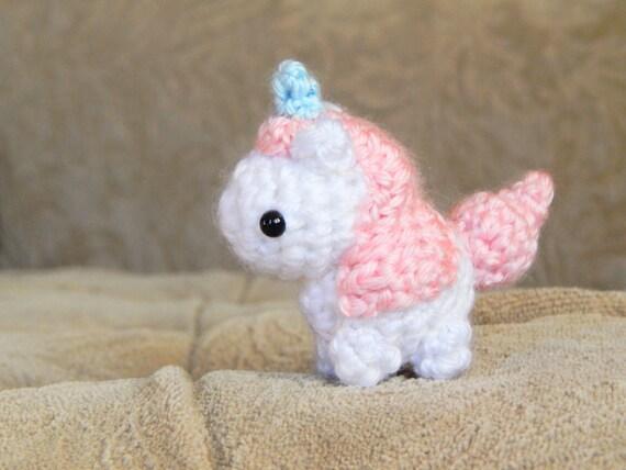 Amigurumi Unicorn : Amigurumi unicorn mini crochet unicorn unicorn plush
