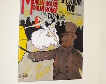 Moulin Rouge: Le Diamant Original Painting