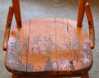 Jahrgang Kind Holz Stuhl