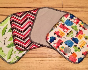 Cloth baby wipes bright colors