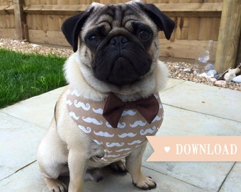 DIY Dog Harness Sewing Pattern and Full Instructions PDF Download, Extra Small to Extra Large