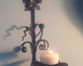 Metal wall candlestick