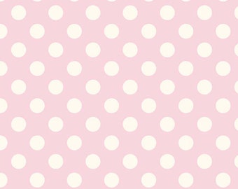 1 yard  Le Creme Medium Dots from Riley Blake Baby Pink