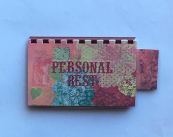 Handmade Red 'Personal Best' Blank Recipe book for Personal Recipes
