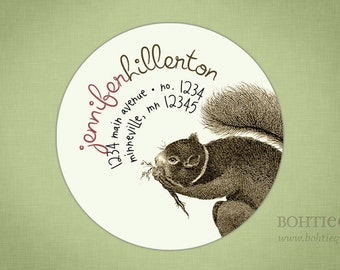 Squirrelly Squirrel Return Address Labels