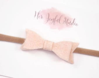 baby headband, newborn headband, baby girl, girls headband, infant headband, headbands for baby, baby bow headband, Peach Bows, OATS