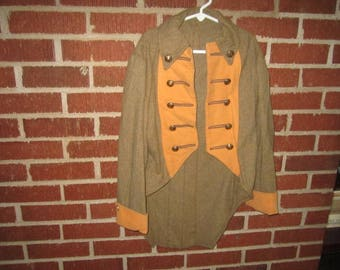 Vintage Childs Brown Wool Frock Coat Costume