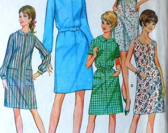 Vintage Dress Sewing Pattern UNCUT McCalls 8908 Size 18