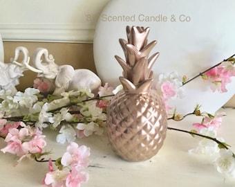 Rose Gold Sculpted Pineapple Ornament Trending