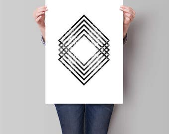 18x24 in. Modern Minimal Wall Art, Black and White Print, Abstract Art, Printable Instant Download, Large Poster Art *255*
