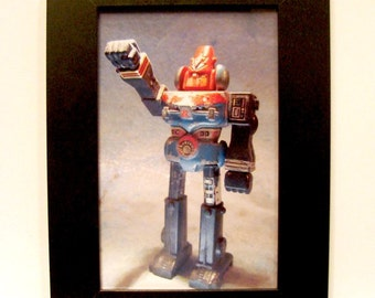 "Framed Japanese Toy Robot Photograph 4x6"" Shogun Warriors"