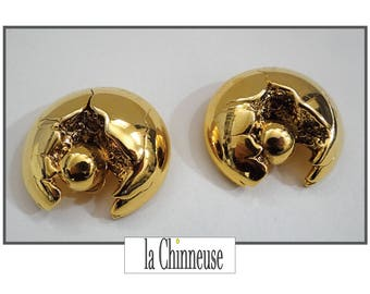 SIDNEY CARRON EARRINGS / Sidney Carron earrings / Gift for her / Collectible / Made in France.