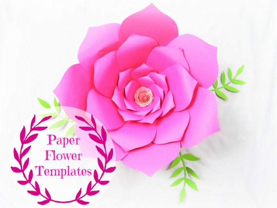 Diy wedding paper flowers flower templates svg cut files mightylinksfo Choice Image