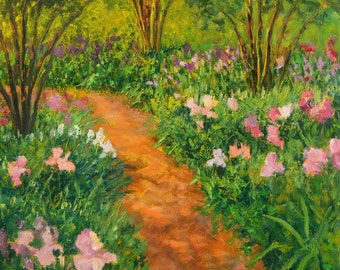Oil Painting Original Landscape, Plein Air Painting – REBECCA'S PATH by Jody Stephenson