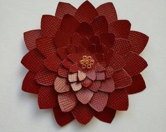 Paper Succulent / Flower - Reddy Brown