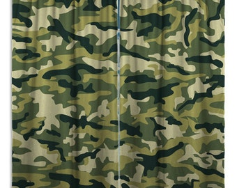 Camo Window Curtains And Window Treatments, Camouflage Window Curtains, Window  Curtains Drapes, Custom