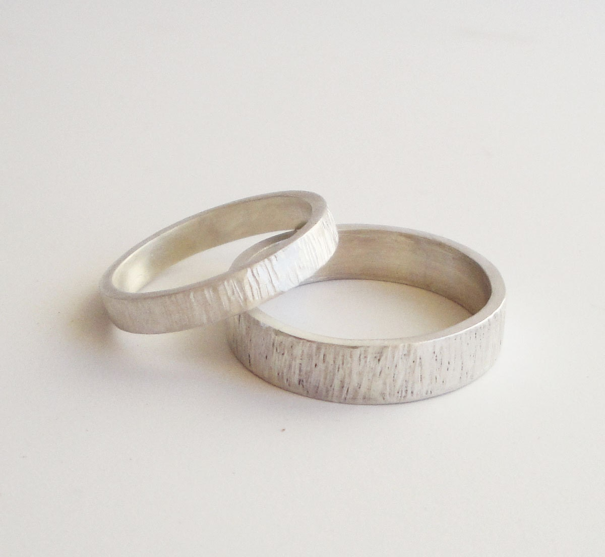 zoom - Silver Wedding Rings For Her