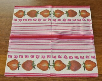 Strawberry and stripe towel